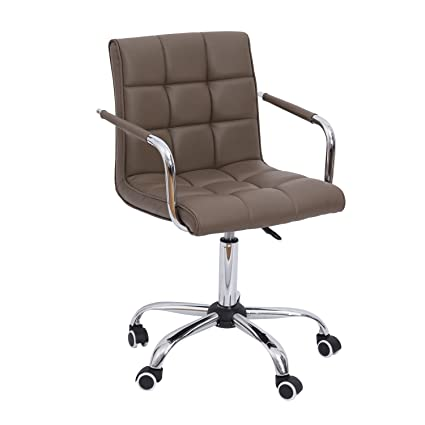 amazon com homcom modern pu leather midback executive office chair