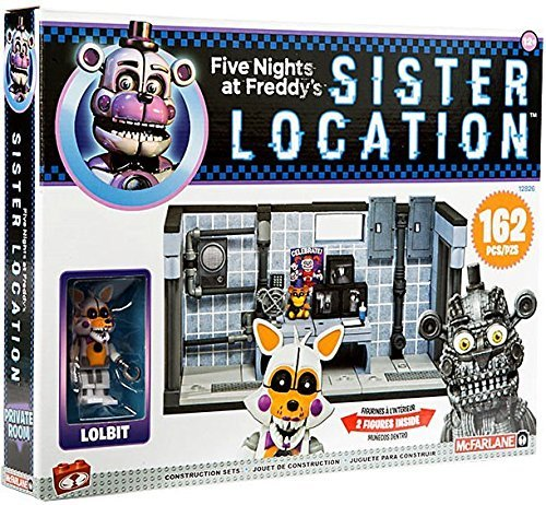 Five Nights at Freddy's Sister Location Series 3 Private Room Construction Set with Lolbit and Jumpscare Freddy Figures -
