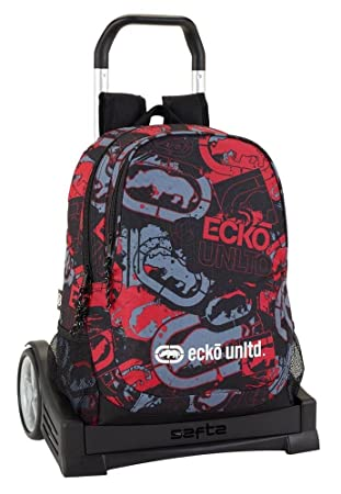 Safta Mochila Espalda Ergonómica Ecko Unltd. Con Carro Safta Evolution: Amazon.es: Oficina y papelería