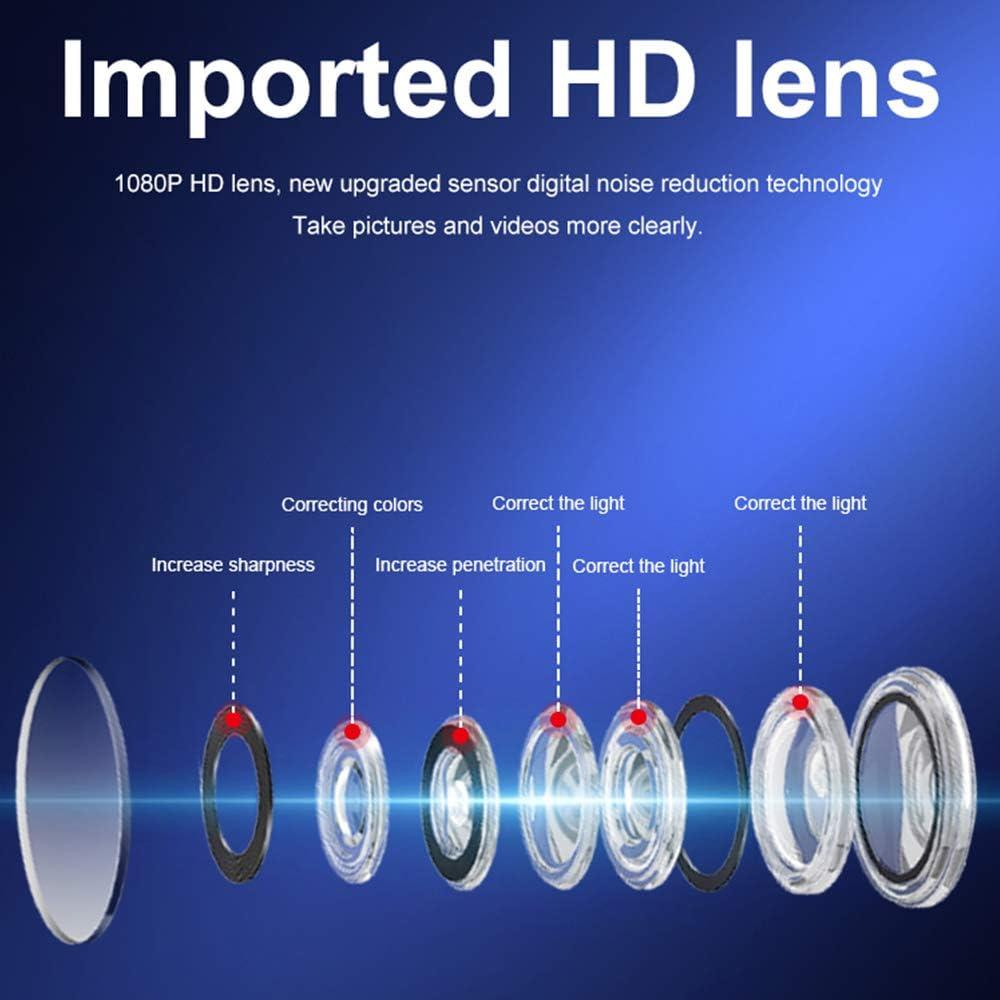 Vision Nocturne Welcam Mini Espion Cach/ée WiFi HD1080P avec Micro SD D/étection de Mouvement pour Bureau Maison Int/érieure Ext/érieure Mini Cam/éra avec 32G Micro SD