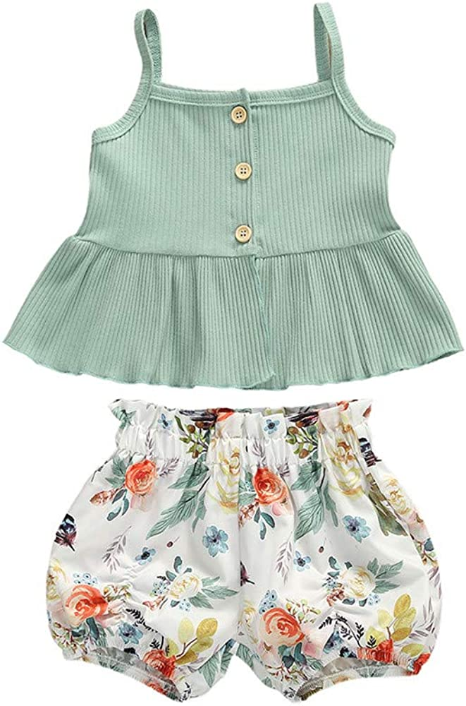 New Infant Girls Two Piece Shorts And Top Outfit Size 12 Months
