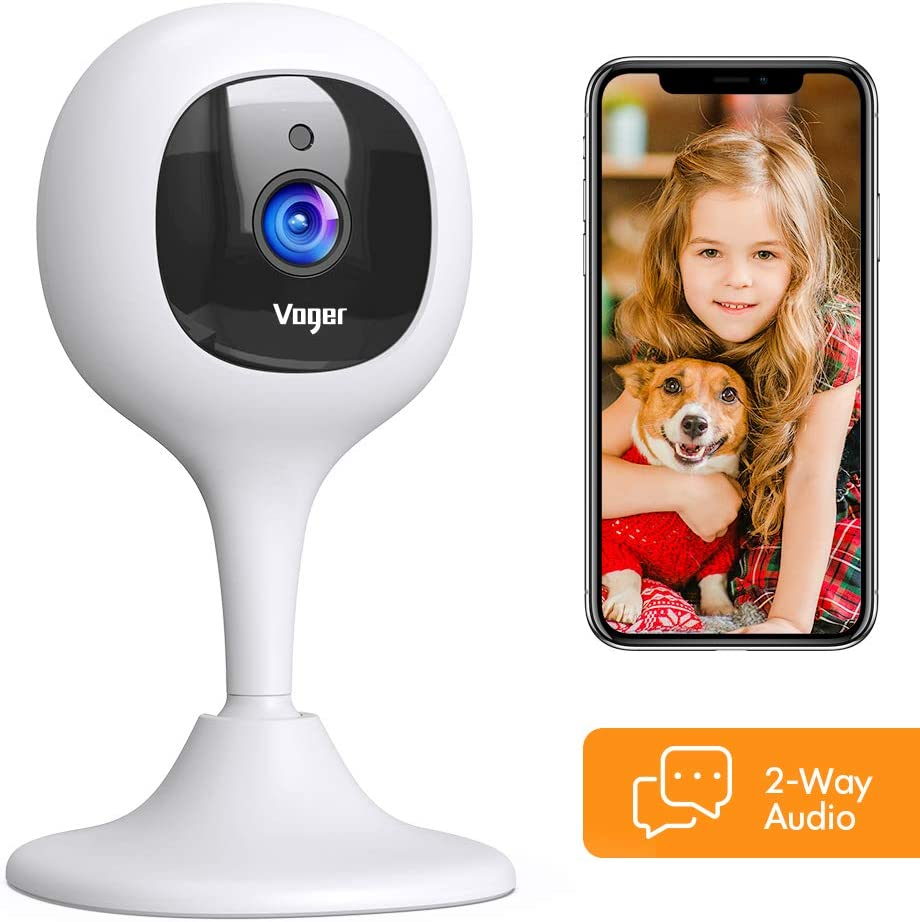 Compatible with Alexa//Cloud Service//iOS and Android System Voger Baby Monitor Camera with Crying Alerts and 2-Way Audio 1080P WiFi Home Security Camera with Motion Detection Night Vision