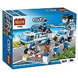 Babytintin COGO City Police Vehicle Building Blocks - Police Man Construction Toys for Kids, Children 368 PCS (4152)