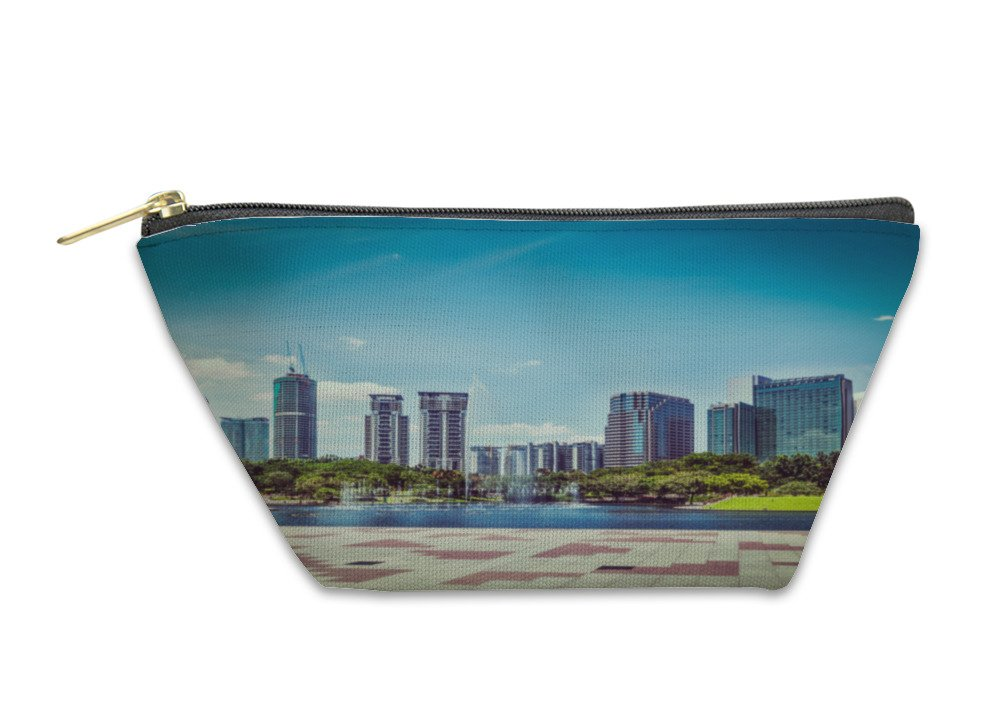 Gear New Accessory Zipper Pouch, Skyline Of Central Business District Of Kuala Lumpur Malaysia, Large, 5879146GN