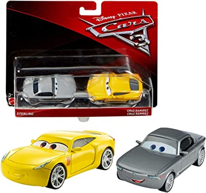 Disney Selección Modelos Doble Pack Cars 3 | Cast 1:55 Vehículos | Mattel, Cars Doppelpacks 2017:Natalie Certain & Chick Hicks Headset: Amazon.es: Juguetes y juegos