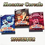 Monsters Cereals 2016 3 Pack Count Chocula Frankenberry Boo Berry