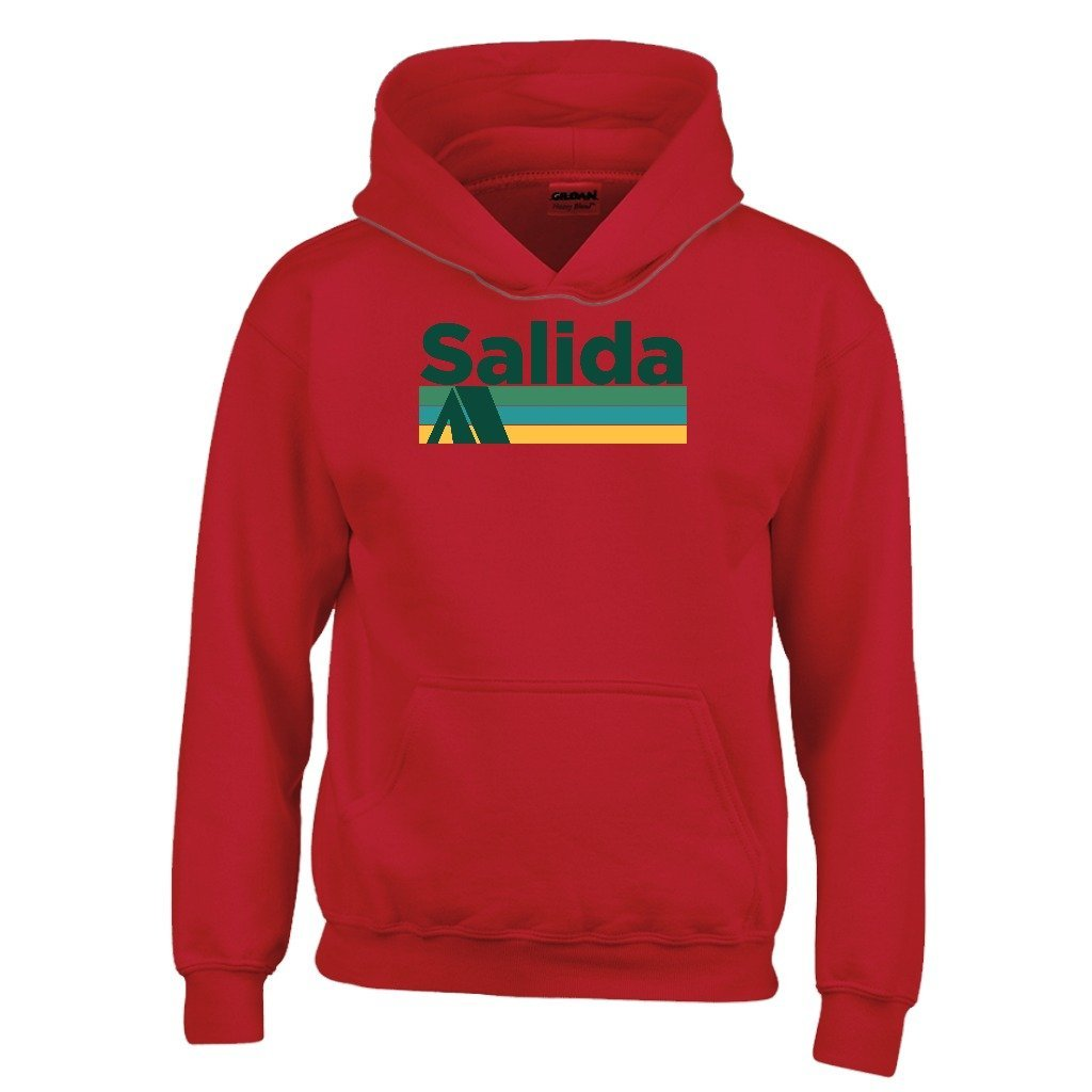 Tenn Street Goods Salida Retro Camping Youth Hoodie Colorado Kids Sweatshirt