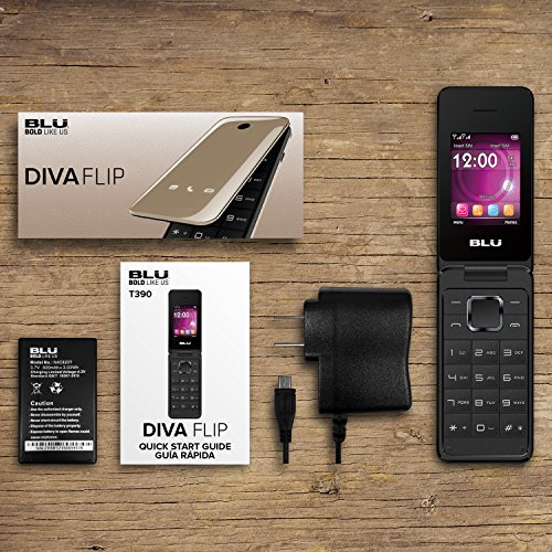 BLU Diva Flip - Unlocked Dual Sim - Gold