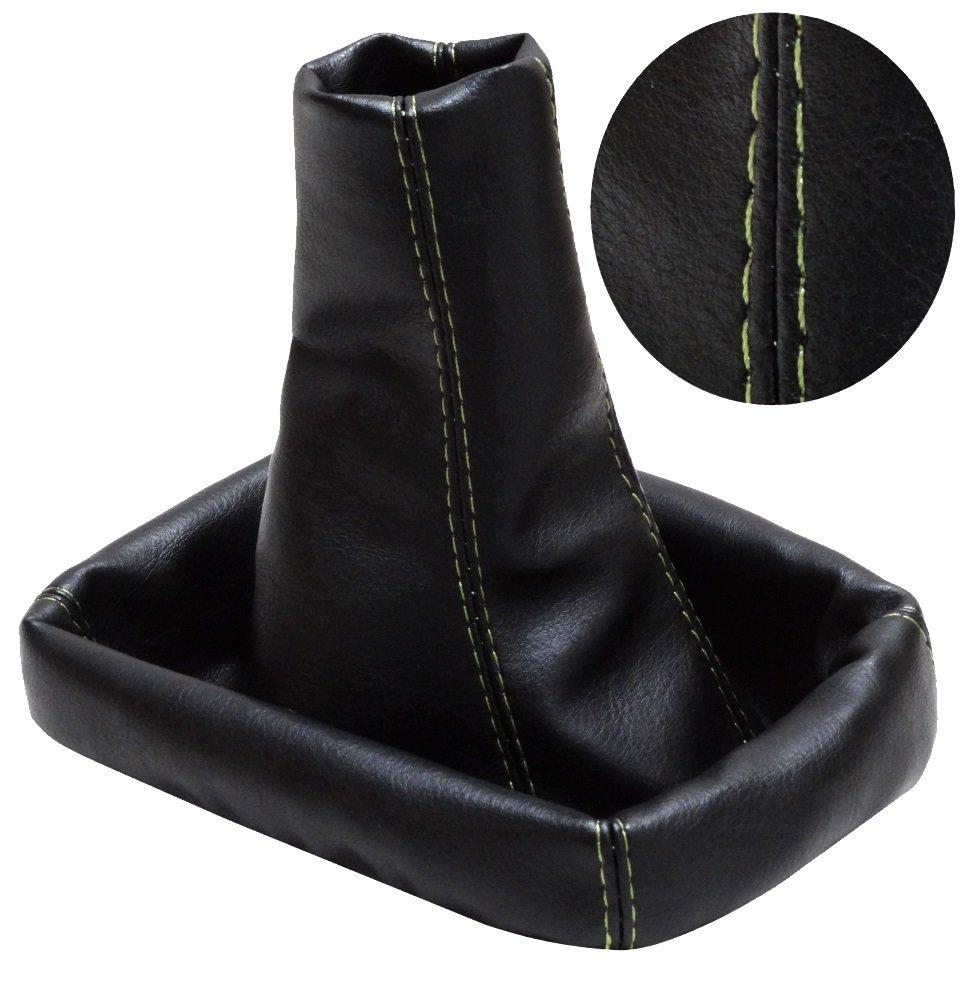 AERZETIX Soufflet de levier vitesse en simili cuir coutures vertes pour Seat Cordoba 2 2002-2009