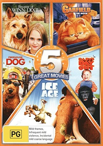 Because of Winn-Dixie / Garfield The Movie / Firehouse Dog / Baby's Day Out / Ice Age DVD