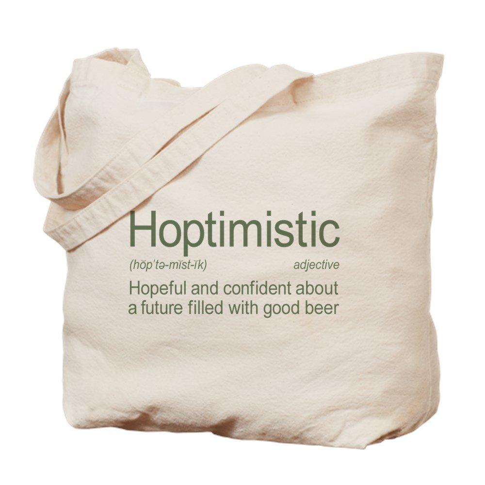CafePress – 定義Hoptimisticビール – ナチュラルキャンバストートバッグ、布ショッピングバッグ M ベージュ 14076431036893C B073QT1P4V MM