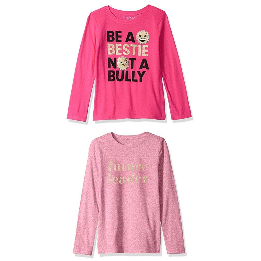 The Childrens Place Girls Long Sleeve T-Shirt 2 Pack Bundle Set
