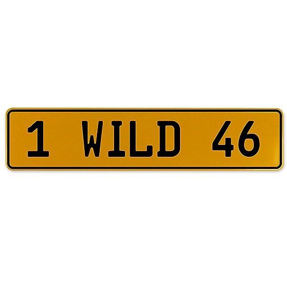 Vintage Parts 560980 1 Wild 46 Yellow Stamped Aluminum European Plate
