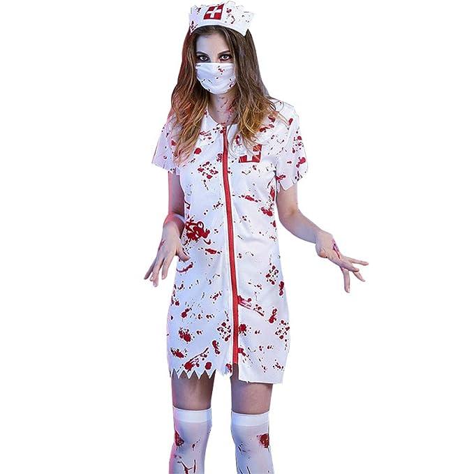 Deylaying Halloween Disfraz de Médico & Enfermera Adulto ...