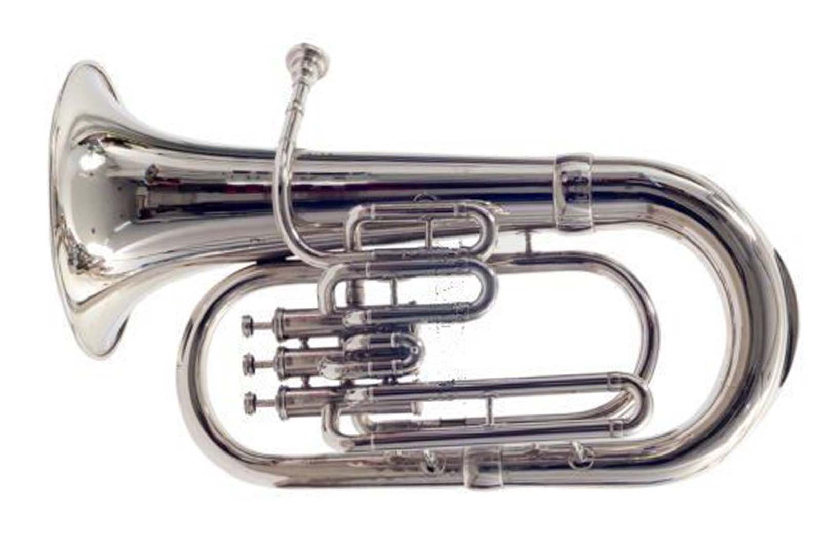 SHREYAS Bb Flat Silver Nickel Euphonium With Free Carrying Bag + Mouthpiece