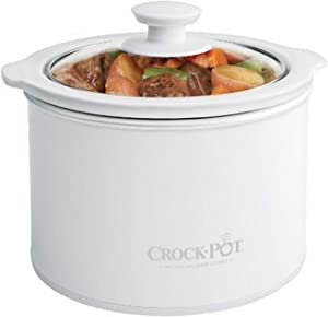 Crock Pot 1 to 1/2 Quart Round Manual Slow Cooker, White (SCR151 WG)
