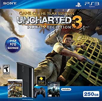Amazon Com Ps3 250gb Uncharted 3 Game Of The Year Bundle Video