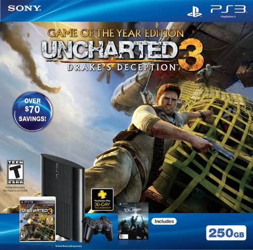 Ps3 250Gb Uncharted 3  Game Of The Year Bundle