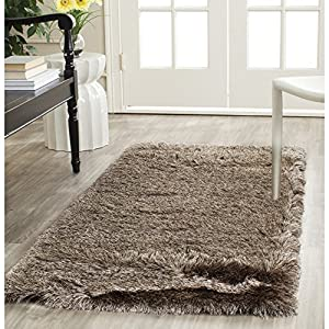 Safavieh Paris Shag Collection SG511-9292 Sable Polyester Runner (2
