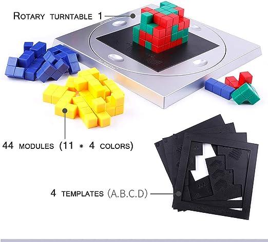 3D estrategia cubo, juegos de la diversión, el pensamiento de los niños entrenamiento de concentración lógica, juegos de mesa de Puzzle, educación temprana cerebro de la sabiduría, ocio y entretenimie: Amazon.es: Hogar