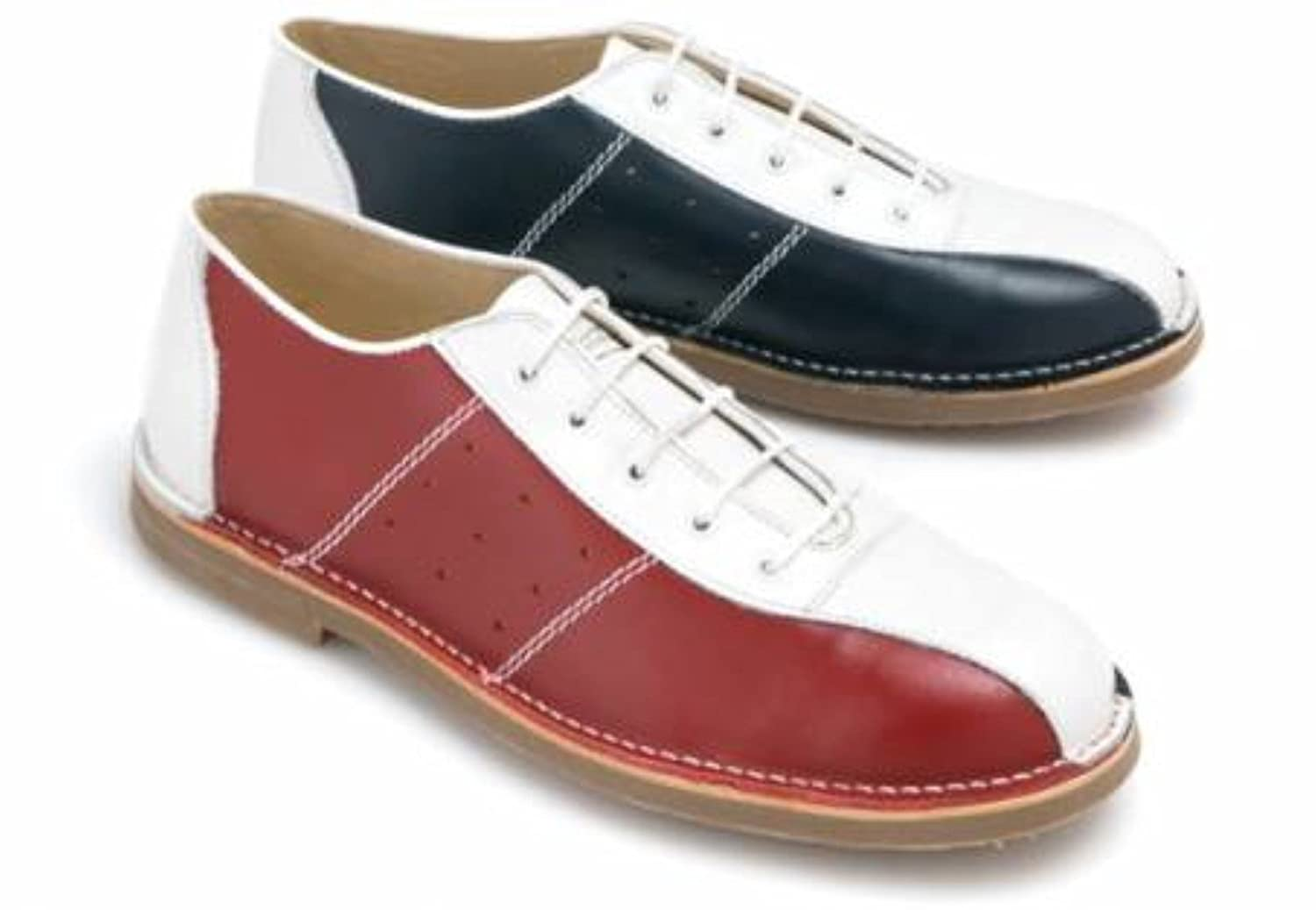 e4894ea20c524 Ikon Marriott RED/White/Blue Casual Leather Swinging 60s When mods Rocked  Bowling Shoes