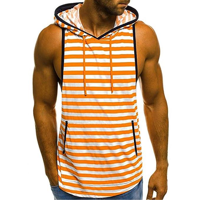 Manadlian Camisetas Manga Corta Hombre Deporte, Camiseta con Capucha De Tirantes Deportes para Hombre Tops Camisa Sin Mangas De Verano Fitness Tops: ...