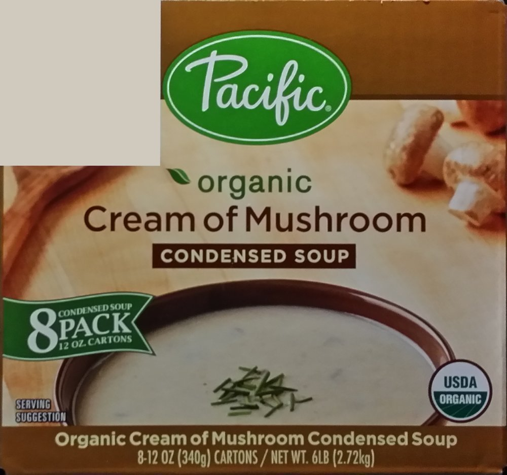 Pacific Organic Cream of Mushroom Condensed Soup-8 Pack by Pacific  Organic