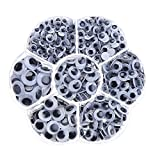 Decora 700 Pieces Mixed Wiggle Googly Eyes with Self-adhesive DIY Scrapbooking Crafts Toy Accessories