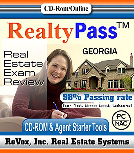 2020 Georgia AMP Realty Pass Real Estate Exam Prep Study Guide Questions and Answers Interactive Software