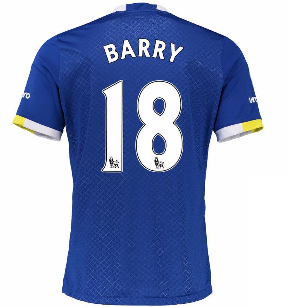 newest c5822 008ee 2016 2017 Everton FC 18 Gareth Barry Home Football Soccer ...