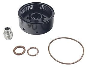 iFJF 1R-0750 Fuel Filter Aluminum Adapter Refit Head for Chevy/GMC Duramax Catepillar Fuel Filter 2001-2017