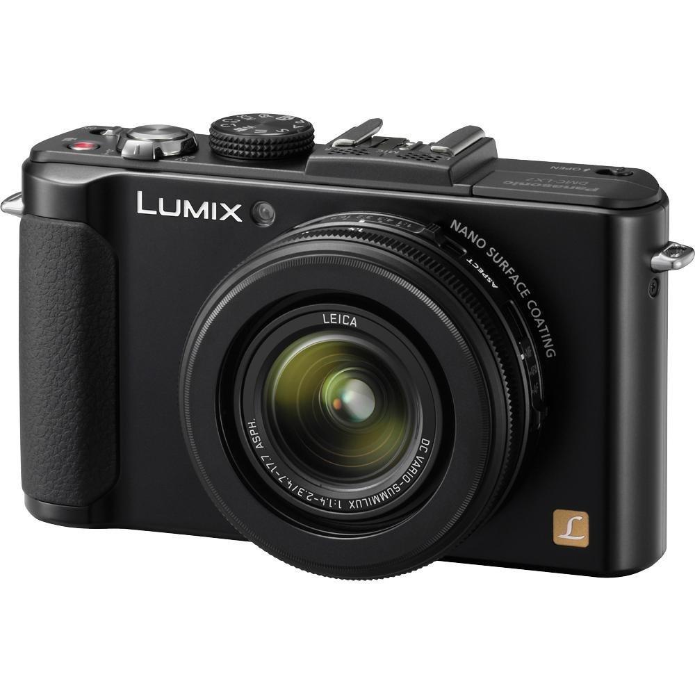 Panasonic Lumix DMC-LX7 Digital Camera (Black) + 8GB SDHC Memory Card