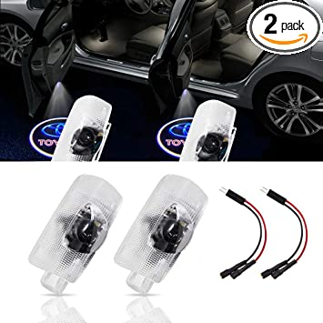 2 PCS Compatible Toyota Door Logo Lights Projector LED 3D Shadow Ghost Light For Toyota Highlander//Camry//Prius//Sienna//Tundra//Venza//4 Runner Symbol Emblem Courtesy Step Lights Kit Replacement