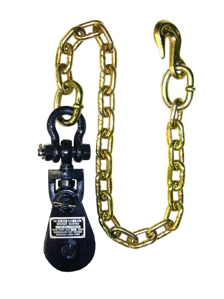 BA Products 6I-2TSW30, 2 Ton Snatch Block with Chain for Rollback, Tow Truck, Crane, Wrecker, Farm Equipment, Material Handling by BA Products