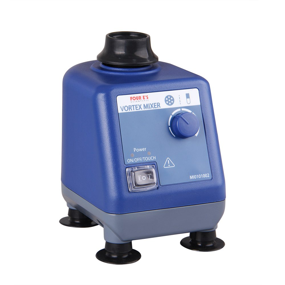 Four E's Scientific Laboratory Vortex Mixer Speed 0-3000rpm, Orbital Diameter 6mm, 50/60Hz, Touch and Continuous Modes, Mix 50ml containers Within 3 Seconds - Benchtop for Clinic Classroom Lab by FOUR E'S SCIENTIFIC (Image #3)