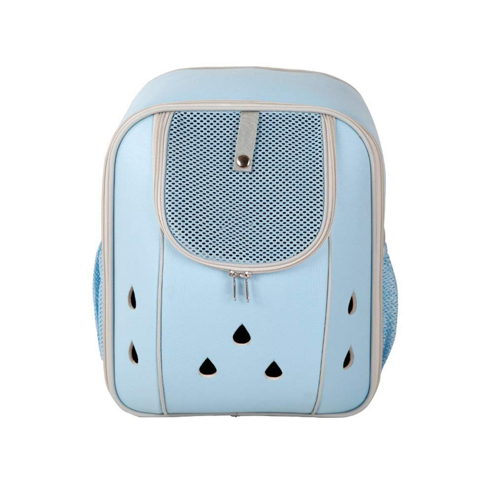 Sky bluee M Sky bluee M JJL Deluxe Pet Carrier Backpack for Small Cats and Dogs, Puppies   Ventilated Design, Two-Sided Entry, Safety Features and Cushion Back Support   for Travel, Hiking, Outdoor Use