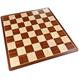 Best Chess Set Pallas Rounded Corners Chess Board with Inlaid Mahogany Wood – Board Only – 17 Inch