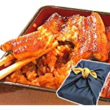父の日 プレゼント 鰻の蒲焼2~3人分 風呂敷包み 国内産うなぎ (紺色)