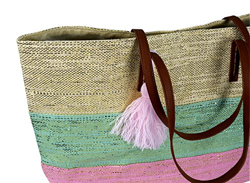 Travel Large Hobo Pink Mint Tote Gold Shoulder Peach Couture Bags Handbags Weave nUg7WHw1xq