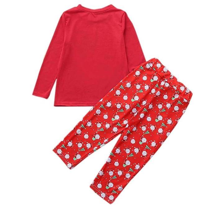 cf37fa75d2 FELZ Conjunto de Pijamas Niños Baby Boy Girl Camiseta Tops Pantalones Familia  Pijamas Ropa de Dormir Trajes de Navidad  Amazon.es  Ropa y accesorios