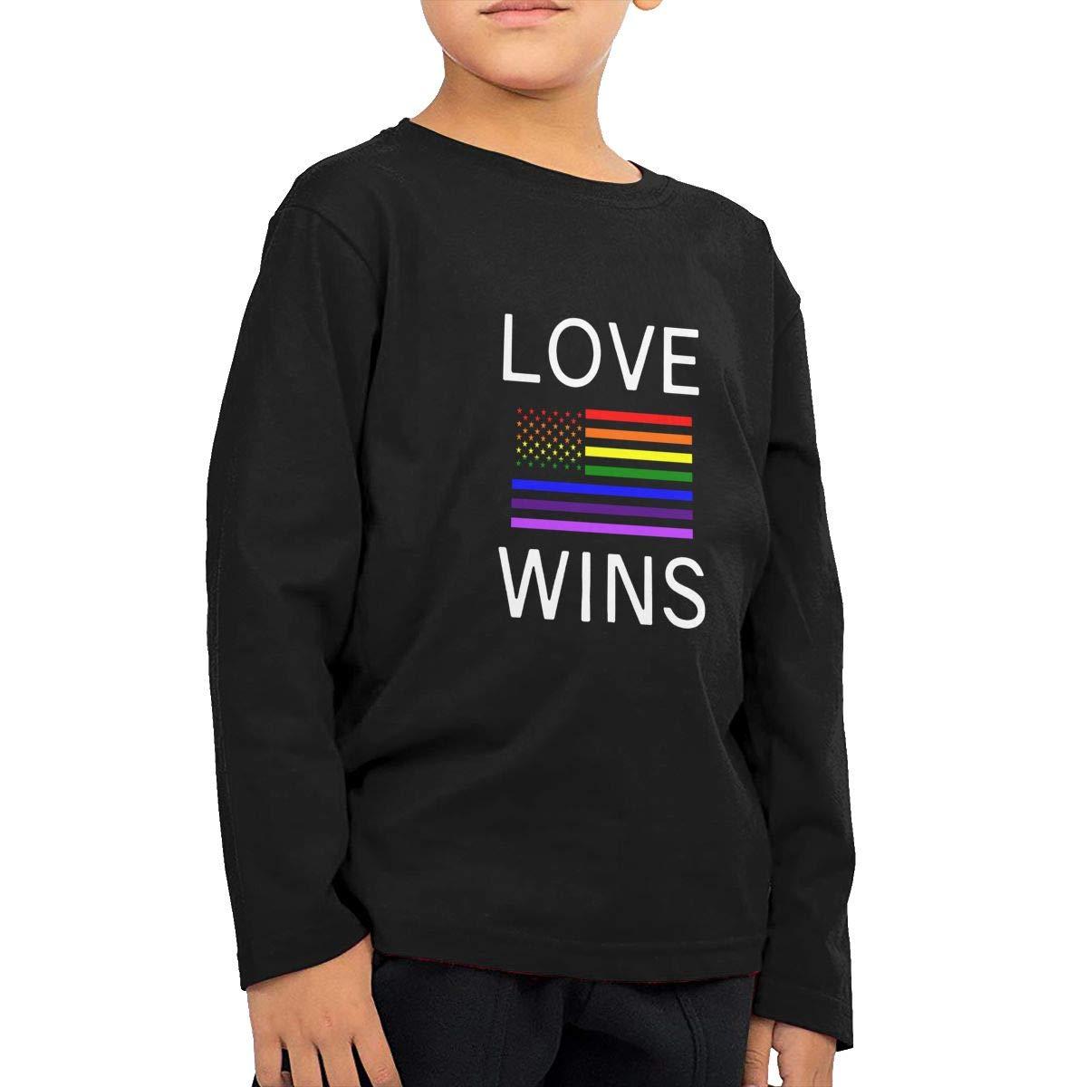 CERTONGCXTS Little Boys Lesbian Pride Shirts Gay ComfortSoft Long Sleeve Shirt