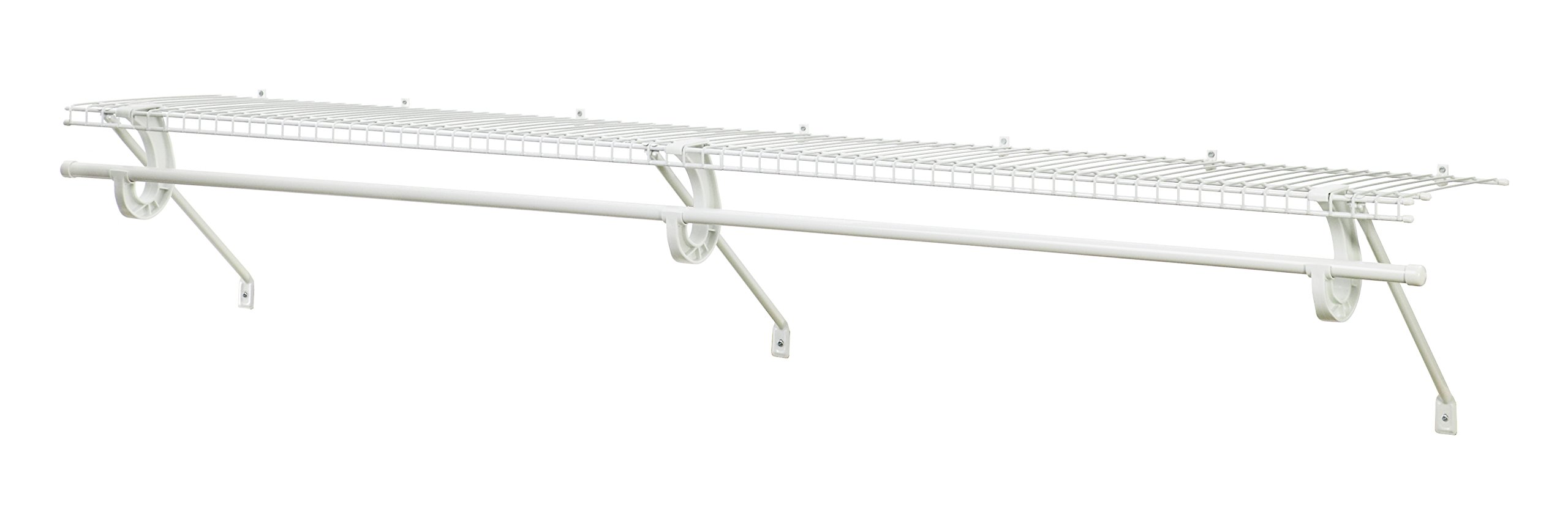 ClosetMaid 5632 Super Slide Ventilated Shelf Kit with Closet Rod, 6' x 12'', White