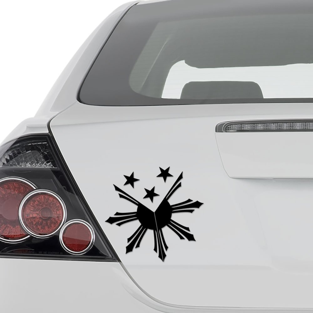 Aampco decals filipino sun stars flag philippines vinyl decal sticker wall decor motorcycle car truck windows bumper size 15 in 38 cm wide color
