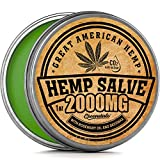 Hemp Oil Salve for Pain Relief - 2000 Mg - Fast Acting