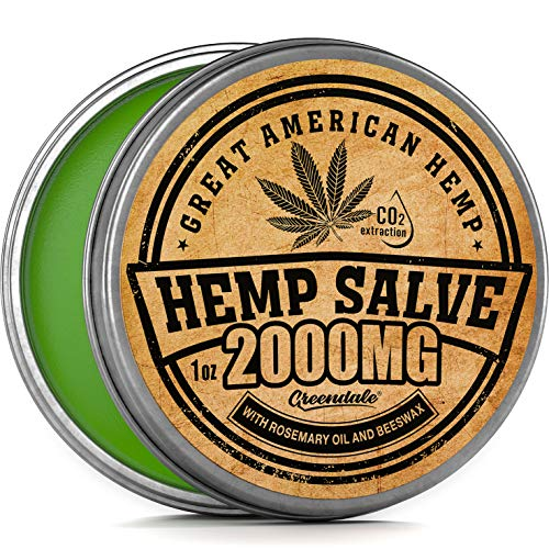 Hemp Oil Salve for Pain Relief - 2000 Mg - Fast Acting & Natural - Knee, Muscle, Joint, Neck & Back Pain Relief - Premium Hemp Oil Made in USA - Anti Inflammatory Hemp Balm - MAX Efficacy - No GMO