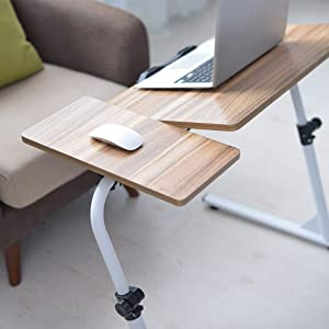 Top- Flipped Z-Shaped Laptop Desk - Adjustable Sofa Lazy Table End Table TV Stand Side Table Snack Tray for Bedside Couch Eating Writing Reading Living Room Bedroom Home Office (Gold)