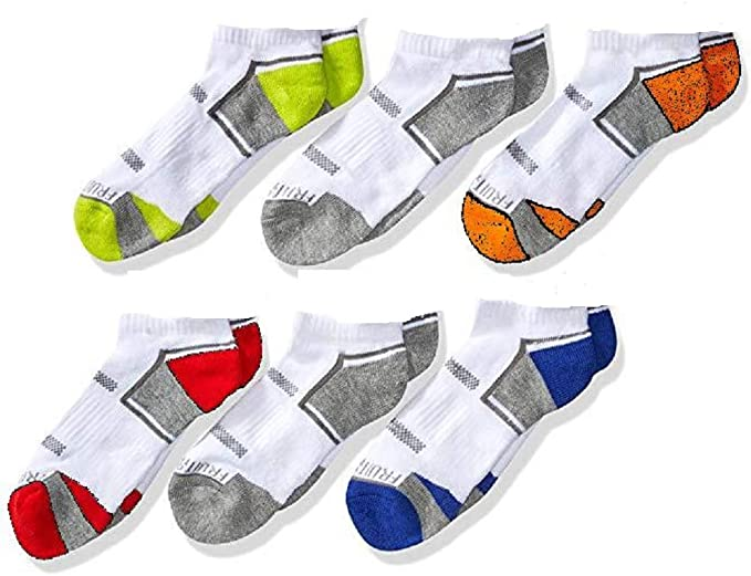 Size 6-Pair Pack M 9-2.5 Fruit of the Loom Boy/'s Low Cut Socks