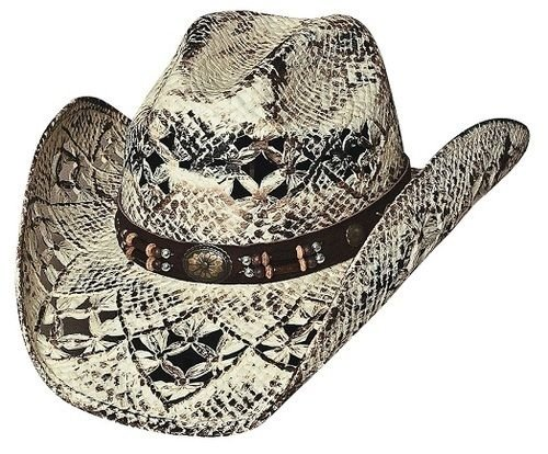 Bullhide Montecarlo Girl Next Door Painted Toyo Straw Western Hat Small