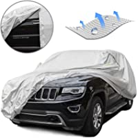 Tecoom Light Shell Breathable Material Classic Zipper Design Waterproof UV-Proof Windproof Car Cover for All Weather…