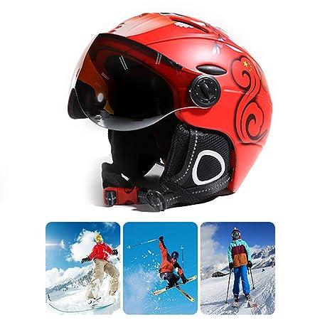 Auplew Visor Ski Casco de Snowboard, 2 en 1 Máscara de Nieve ...
